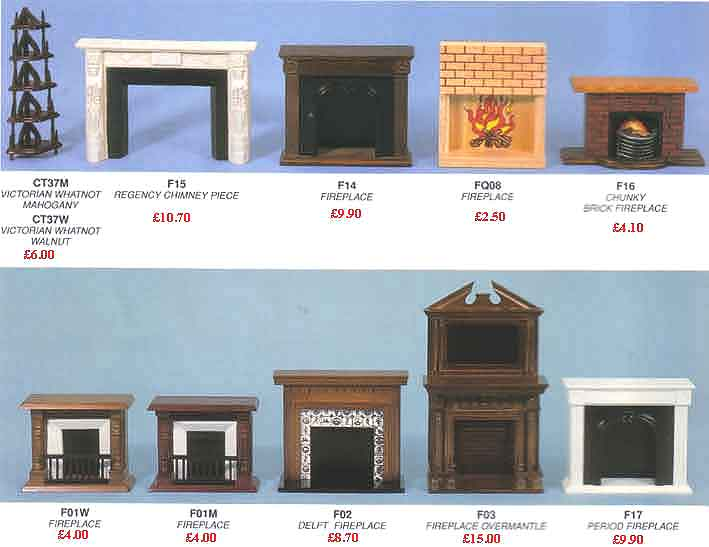 Dolls House Fires Fireplaces Childs Wooden Dolls Houses