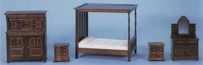 Dolls House Bedroom Furniture Mahagony Oak Pine Bedrooms