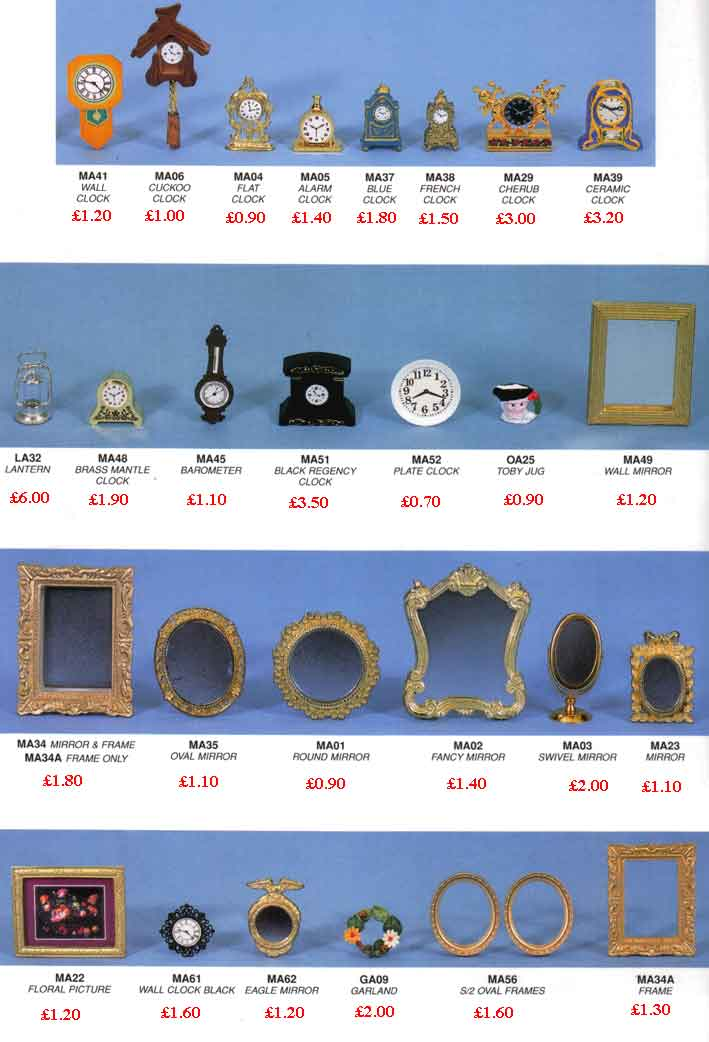 DOLLS HOUSES MIRROR CLOCKS PICTURE FRAMES FOR SALE FURNITURE FOR ...